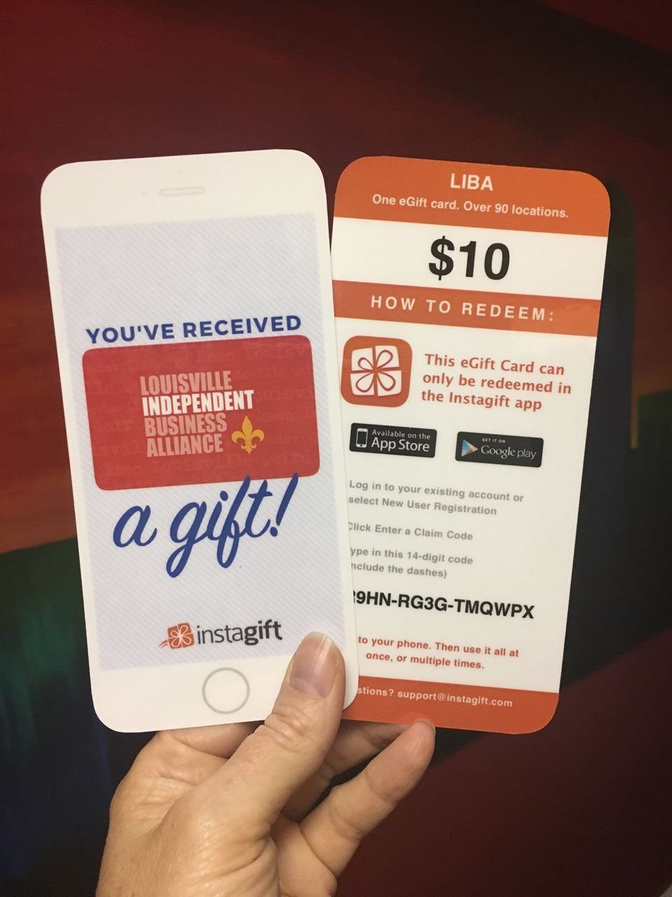 Louisville Independent Business Alliance - eGift Card